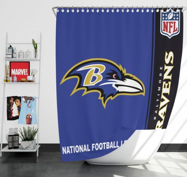 NFL Baltimore Ravens Shower Curtain
