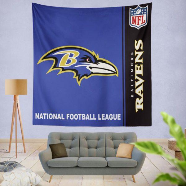 NFL Baltimore Ravens Wall Hanging Tapestry