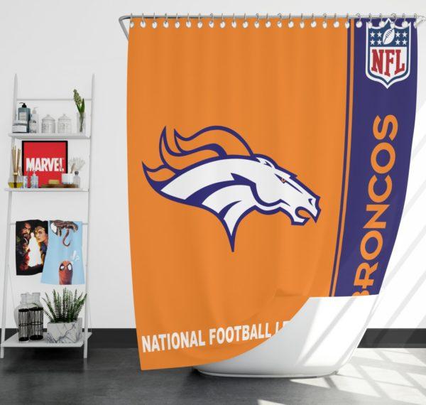 NFL Denver Broncos Shower Curtain