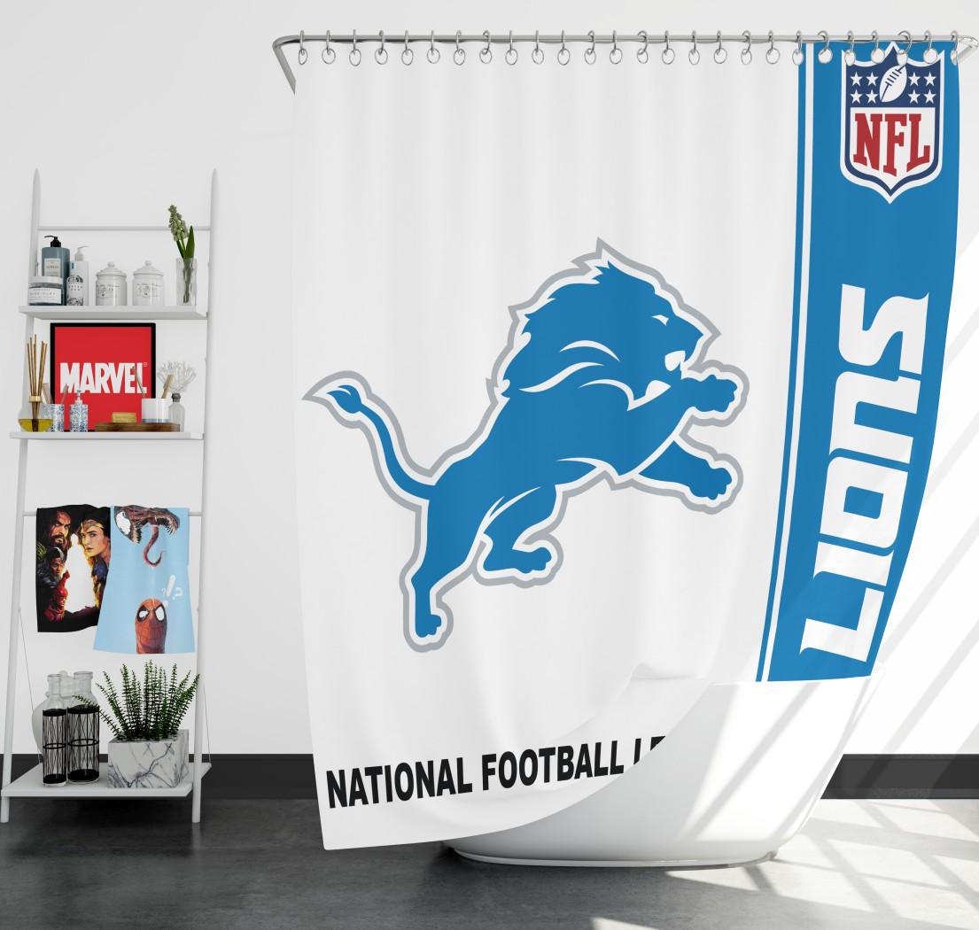 Cool Nfl Detroit Lions Shower Curtain Download Free Architecture Designs Sospemadebymaigaardcom