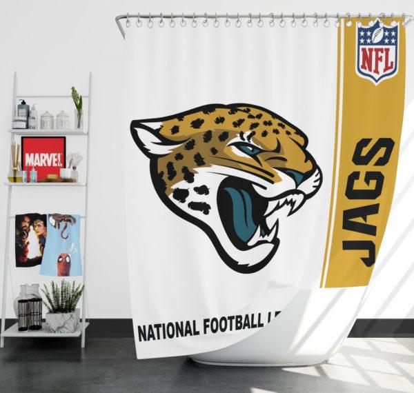 NFL Jacksonville Jaguars Shower Curtain