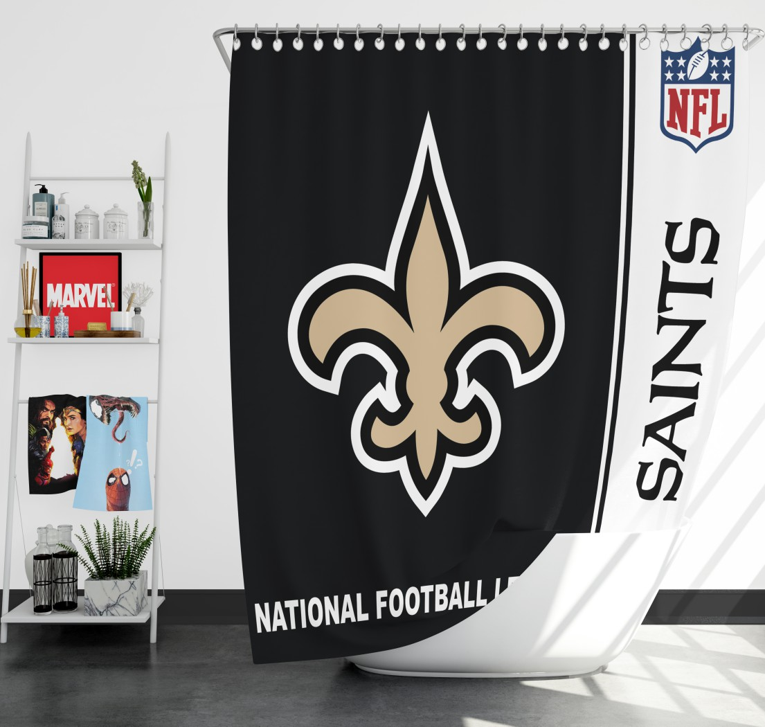 86ef6357 NFL New Orleans Saints Shower Curtain