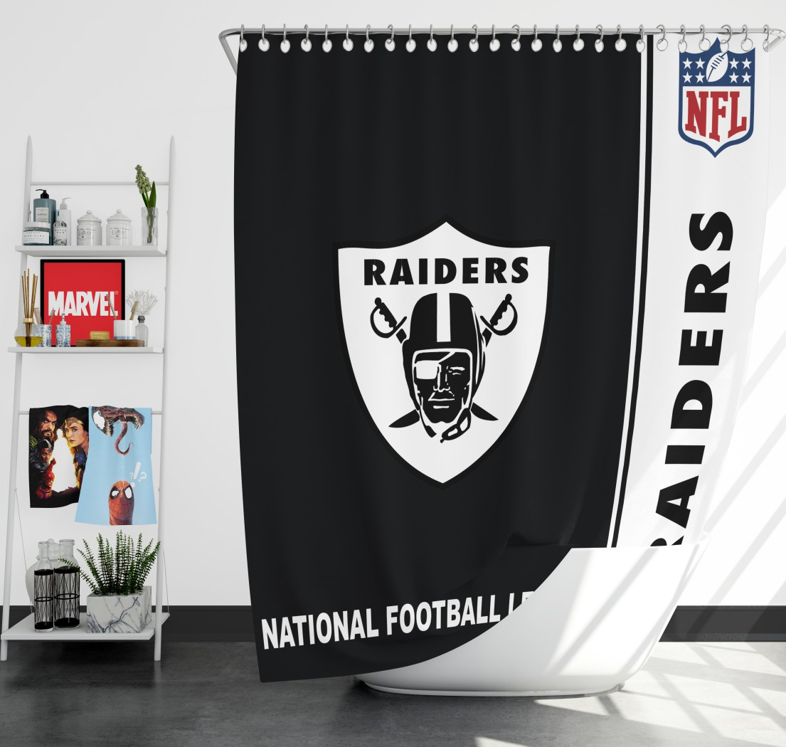 NFL Oakland Raiders Shower Curtain