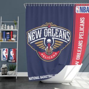 New Orleans Pelicans NBA Basketball Bathroom Shower Curtain
