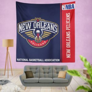 New Orleans Pelicans NBA Basketball Bedroom Wall Hanging Tapestry