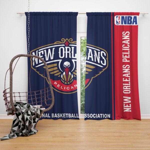 New Orleans Pelicans NBA Basketball Bedroom Window Curtain