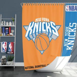 New York Knicks NBA Basketball Bathroom Shower Curtain