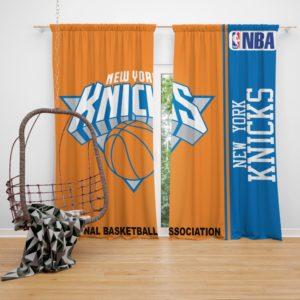 New York Knicks NBA Basketball Bedroom Window Curtain