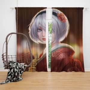 Nier Automata Japanese Costume Anime Bedroom Window Curtain