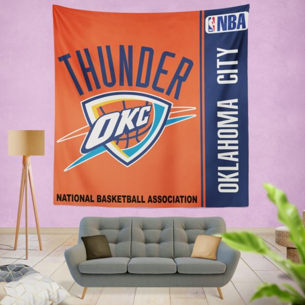 Oklahoma City Thunder NBA Basketball Bedroom Wall Hanging Tapestry