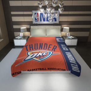 Oklahoma City Thunder NBA Basketball Duvet Cover 1