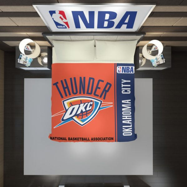 Oklahoma City Thunder NBA Basketball Duvet Cover 2