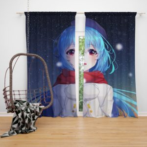 Original Anime Girl Cute Anime Bedroom Window Curtain