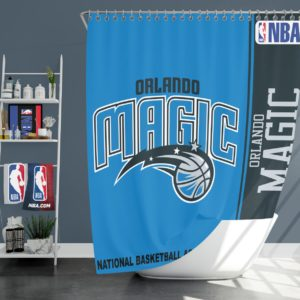 Orlando Magic NBA Basketball Bathroom Shower Curtain