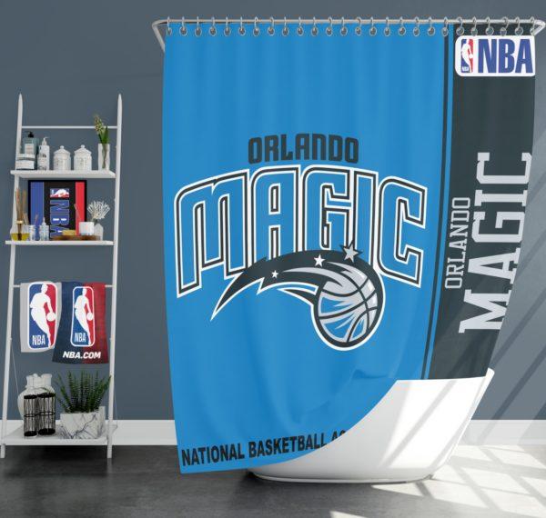 Orlando Magic NBA Basketball Bathroom Shower Curtain