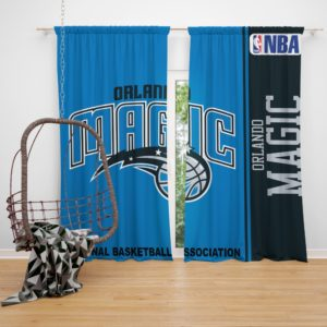 Orlando Magic NBA Basketball Bedroom Window Curtain