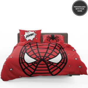 Personalized Comic Style Spider-Man Custom Bedding Set 1