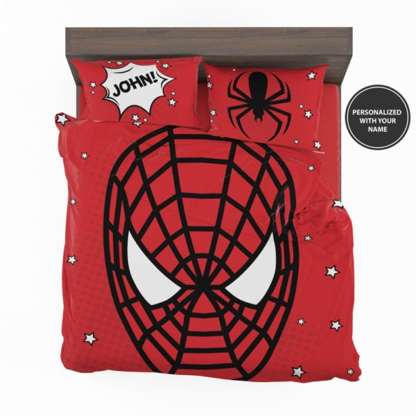 Personalized Comic Style Spider-Man Custom Bedding Set 2