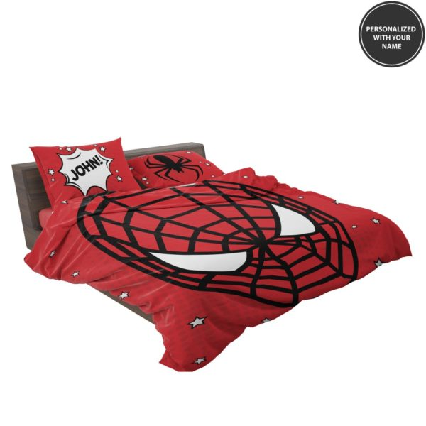 Personalized Comic Style Spider-Man Custom Bedding Set 3