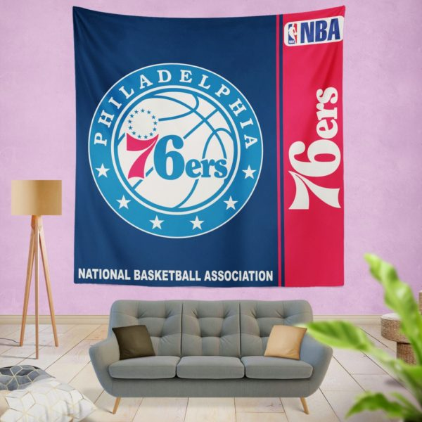 Philadelphia 76ers NBA Basketball Bedroom Wall Hanging Tapestry