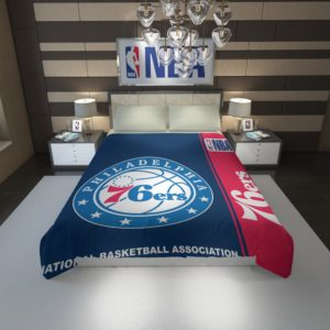 Philadelphia 76ers NBA Basketball Duvet Cover 1