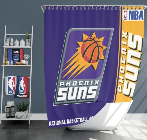 Phoenix Suns NBA Basketball Bathroom Shower Curtain