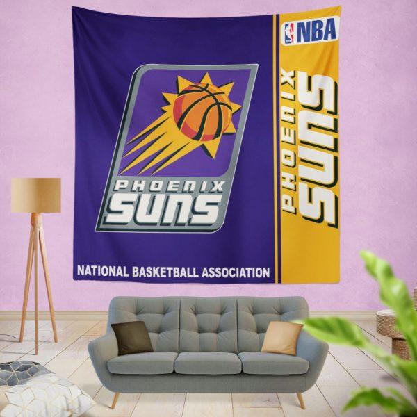 Phoenix Suns NBA Basketball Bedroom Wall Hanging Tapestry