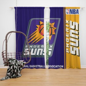 Phoenix Suns NBA Basketball Bedroom Window Curtain