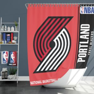 Portland Trail Blazers NBA Basketball Bathroom Shower Curtain