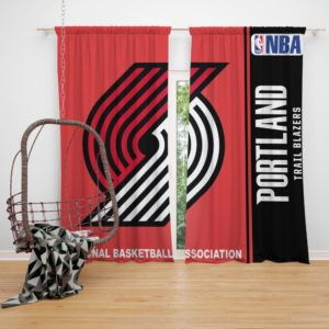 Portland Trail Blazers NBA Basketball Bedroom Window Curtain