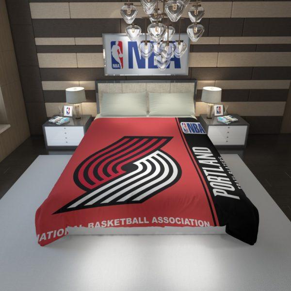 Portland Trail Blazers NBA Basketball Duvet Cover 1