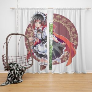 Ruby Rose Anime Girl Rwby Cute Anime Bedroom Window Curtain