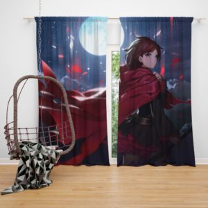 Ruby Rose Rwby Custom Anime Bedroom Window Curtain