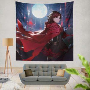 Ruby Rose Rwby Custom Anime Wall Hanging Tapestry