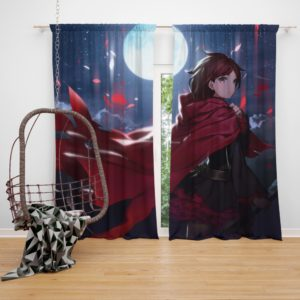 Rwby Eshi Full Moon Bedroom Window Curtain
