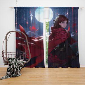 Rwby Eshi Full Moon Bedroom Window Curtain