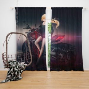 Saber Alter Anime Bedroom Window Curtain