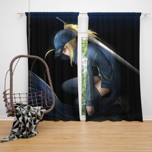 Saber Fate Grand Order Japanese Anime Bedroom Window Curtain