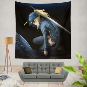 Saber Fate Grand Order Japanese Anime Wall Hanging Tapestry