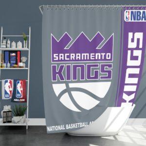 Sacramento Kings NBA Basketball Bathroom Shower Curtain