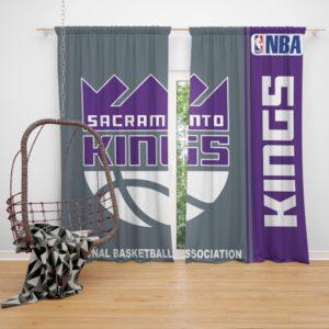Sacramento Kings NBA Basketball Bedroom Window Curtain