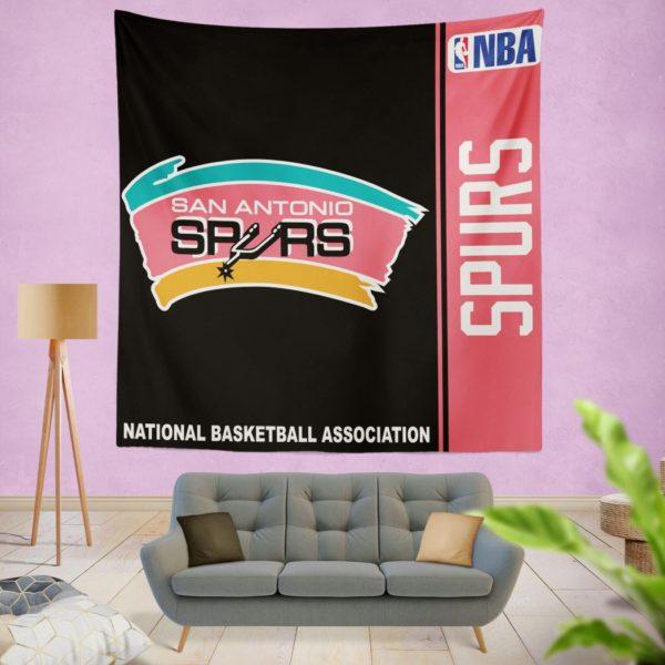 San Antonio Spurs NBA Basketball Bedroom Wall Hanging Tapestry