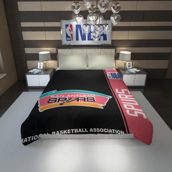 San Antonio Spurs NBA Basketball Duvet Cover 1