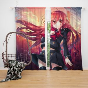 Shakugan No Shan Japanese Anime Fairy Tail Bedroom Window Curtain