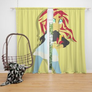 Sunset Shimmer My Little Pony Friendship Is Magic Bedroom Window Curtain