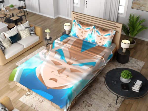 Super Saiyan Blue Vegeta Dragon Ball Super Bedding Set 4