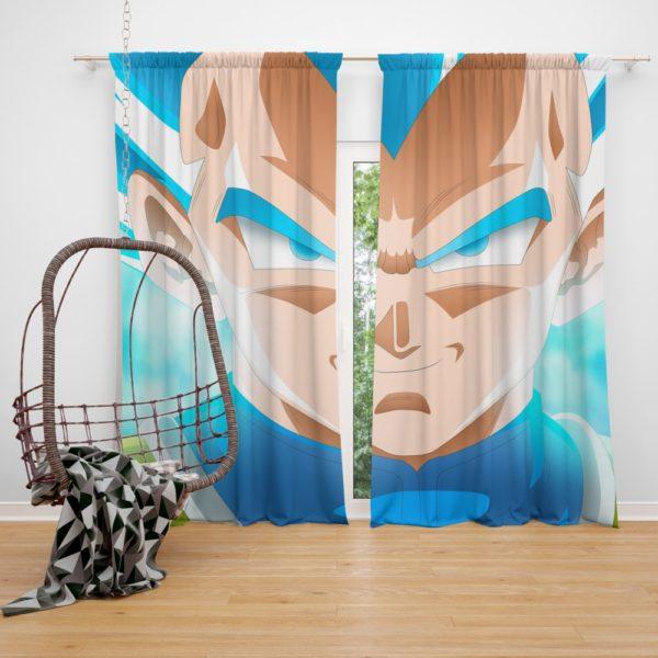 Super Saiyan Blue Vegeta Dragon Ball Super Bedroom Window Curtain
