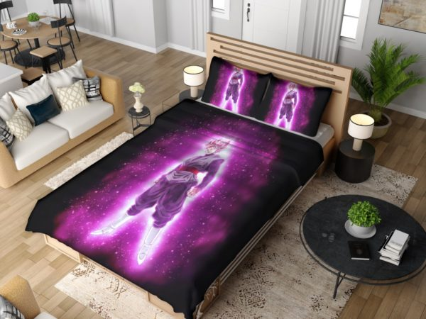 Super Saiyan Rose Goku Black Dragon Ball Super Bedding Set 4