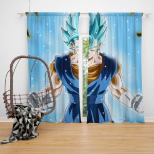 Super Saiyan Vegito Anime Boy Bedroom Window Curtain