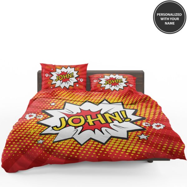 Superhero Theme Comic Personalized Custom Bedding Set 1